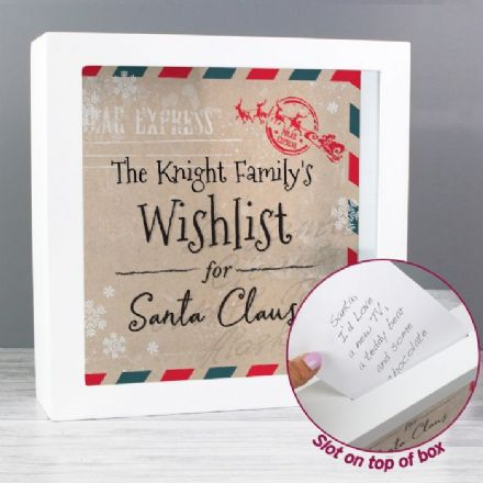 Wishes, Lists and Letters for Santa Keepsake Box